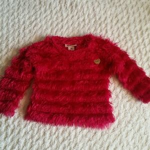 Kids Juicy Couture los Angeles bright pink sweater